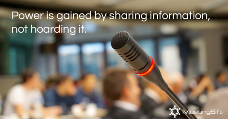 information sharing meetings