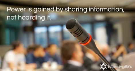 information sharing meetings